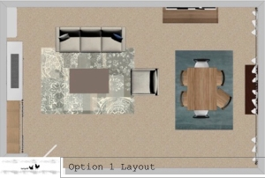 Option 1 layout