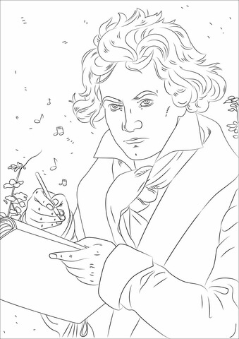 beethoven-coloring-page
