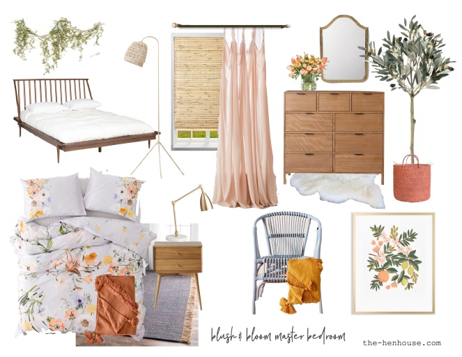 Blush and Bloom Master Bedroom
